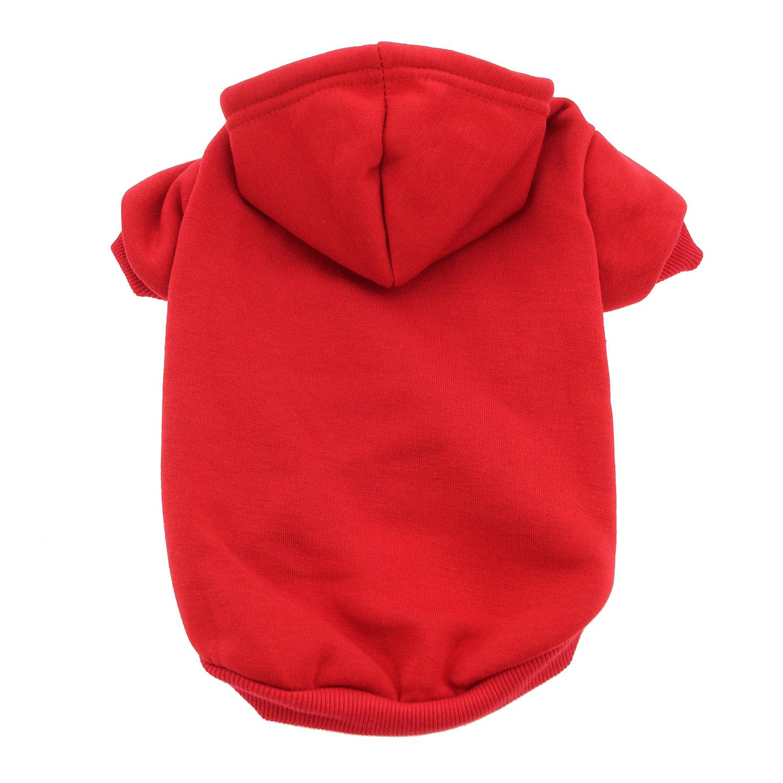 Plain Dog Hoodie - Red