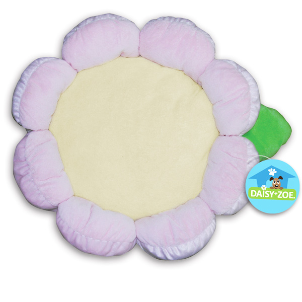 Plush Flower Dog Bed - Pink