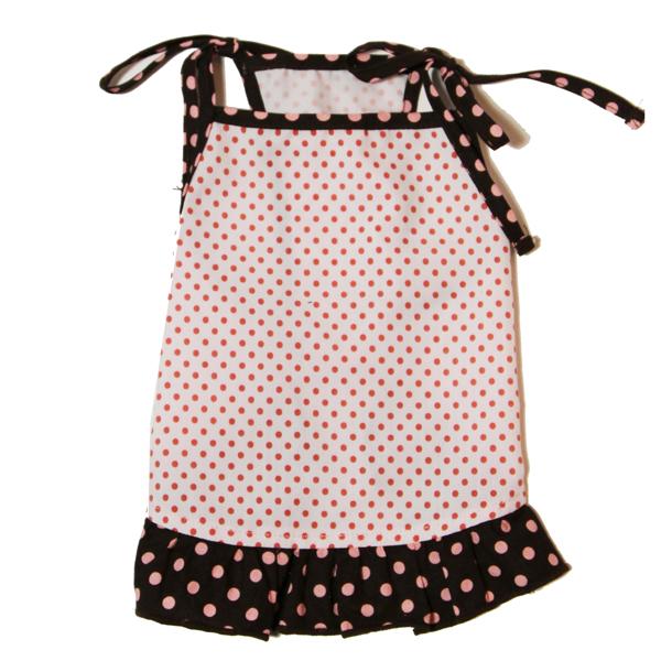 Polka Dot Dog Dress by Gooby - Pink & Brown