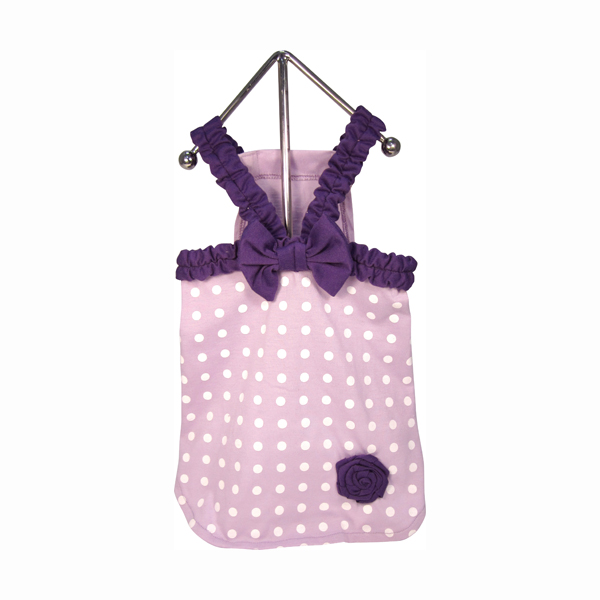 Polka Dot Dog Dress - Lilac