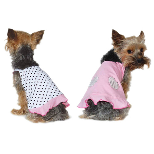 Polka Dot Reversible Dog Dress by Dogo