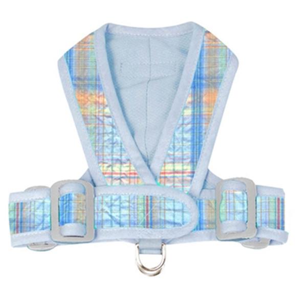 Precision Fit Seersucker Dog Harness - Blue