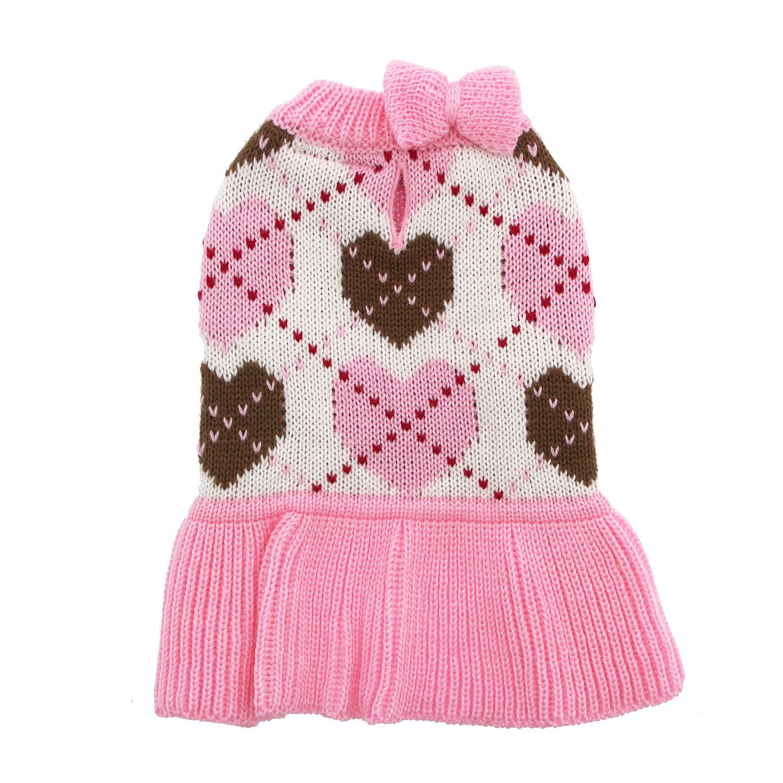 Preppy Heart Sweater Dress by Dogo