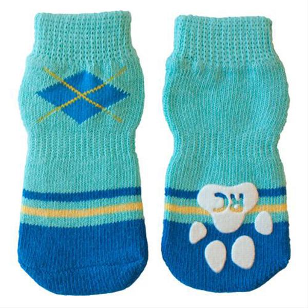 Preppy PAWks Dog Socks - Blue