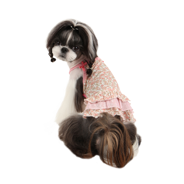 Primavera Dog Dress by Pinkaholic - Light Pink