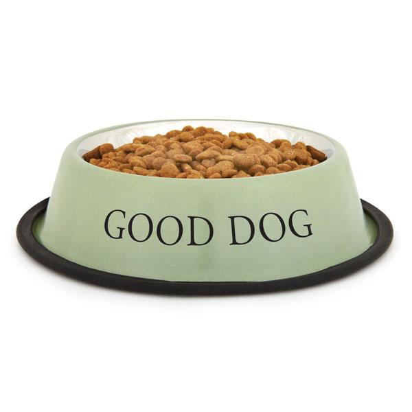 ProSelect 'Good Dog' Bowl - Sage Green