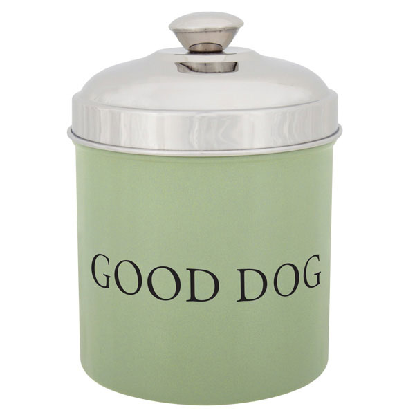 ProSelect 'Good Dog' Treat Canister - Sage Green