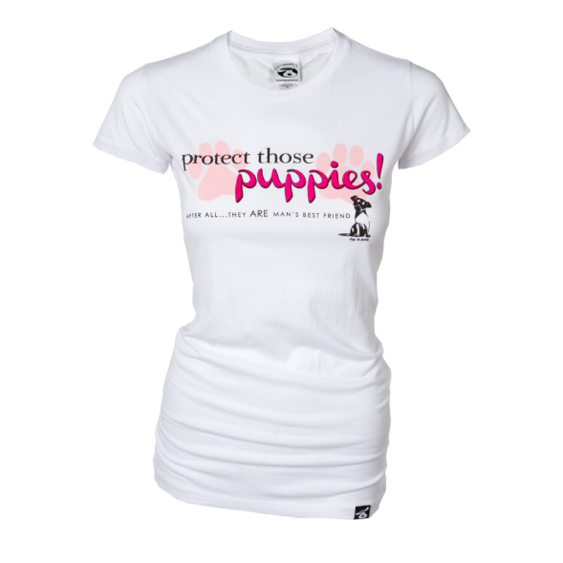 Protect Those Puppies Human T-Shirt