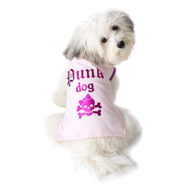 Punk Dog T-Shirt - Pink