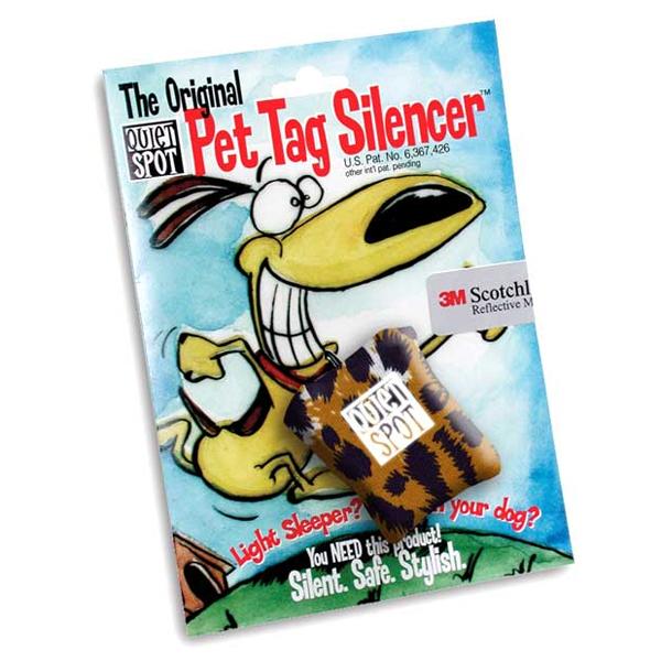 Quiet Spot Pet Tag Silencer - Leopard