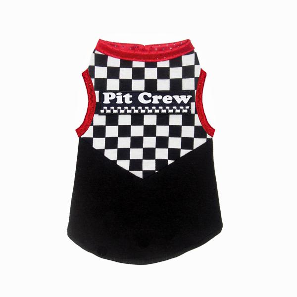 Racing Team Pit Crew Dog Tank Top