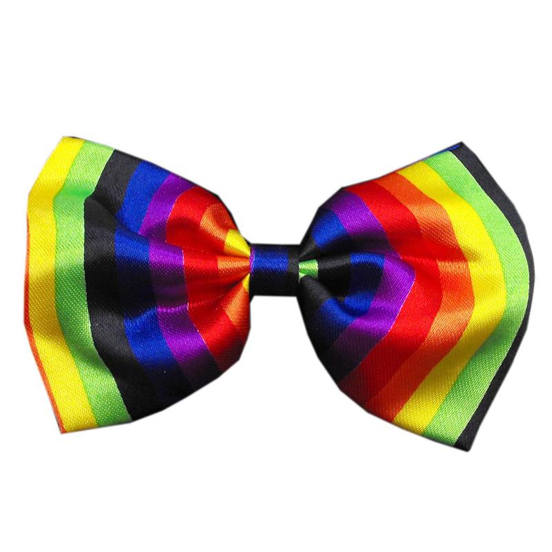 Rainbow Dog Bow Tie