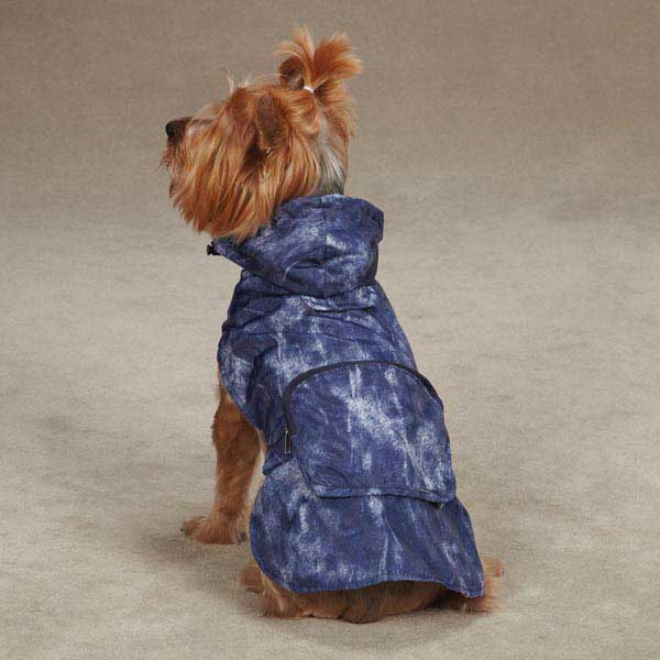 Rainy Day Dog Rain Jacket - Blue Denim