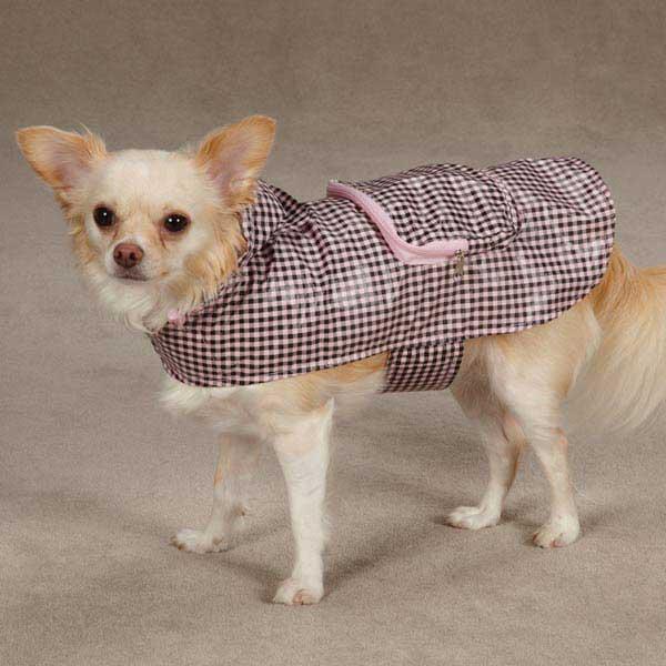Rainy Day Dog Rain Jacket - Pink Gingham
