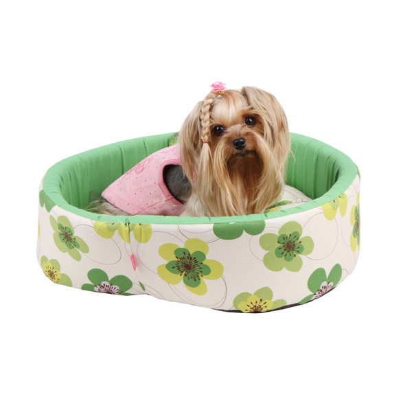 Ramona Heart Dog Bed by Pinkaholic - Green