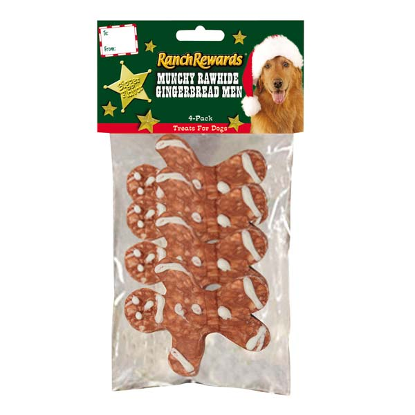 Ranch Rewards Holiday Munchy Shape Dog Treat - Gingerbread Man