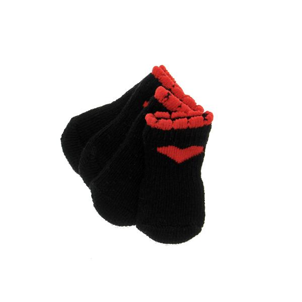 Red Heart Soxy Paws Dog Socks - Black