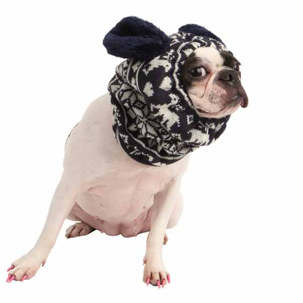 Reindeer Dog Snood by Pinkaholic - Navy