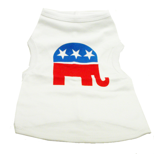 Republican Party Dog Tank Top - White