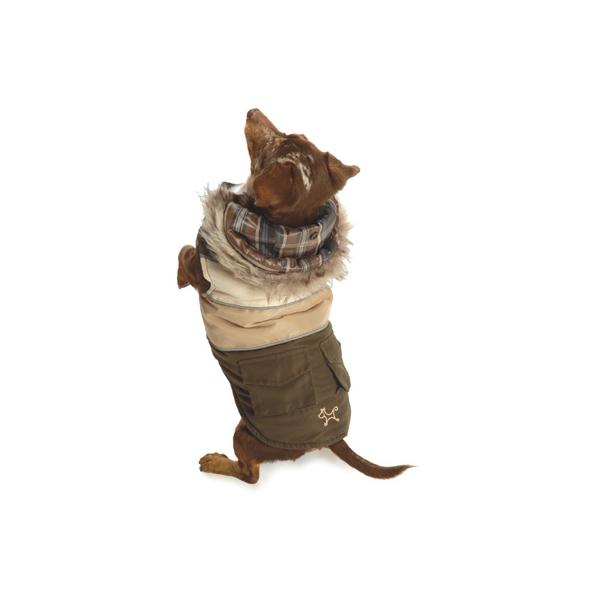Reversible Puffy Ski Coat by NY Dog - Brown