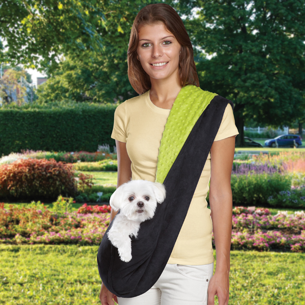 Reversible Sling Dog Carrier - Green/Black