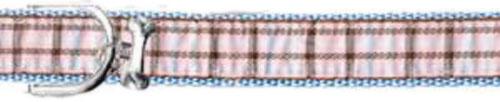 Ribbon London Plaid Blue Dog Collar