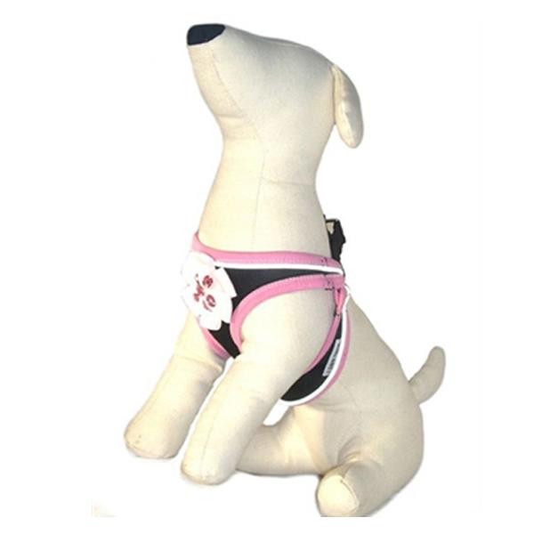 Ribbon Rhinestone Flower Dog Harness