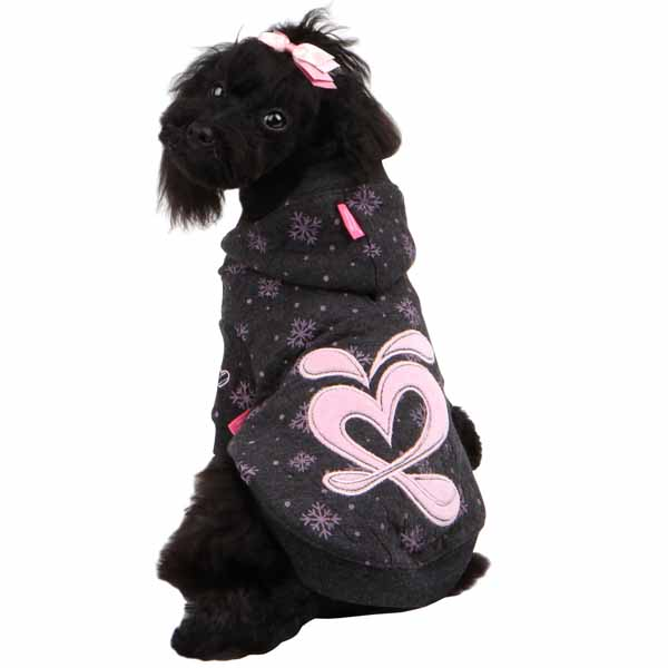 Ritzy Dog Hoodie by Pinkaholic - Gray