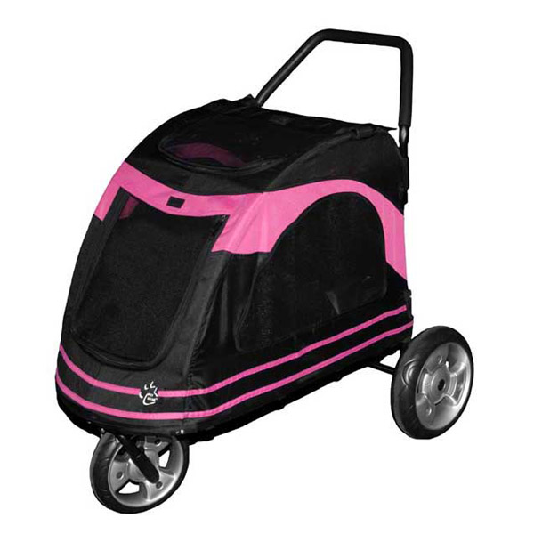 Roadster Pet Stroller - Black/Pink