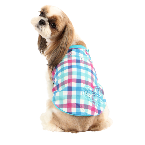 Romance Dog Shirt by Puppia - Aqua