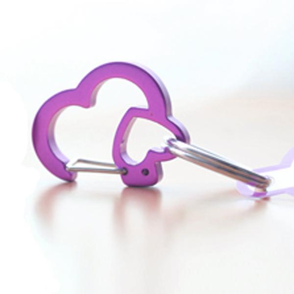 Rubit Dog Tag Clip - Purple Rhinestone Heart