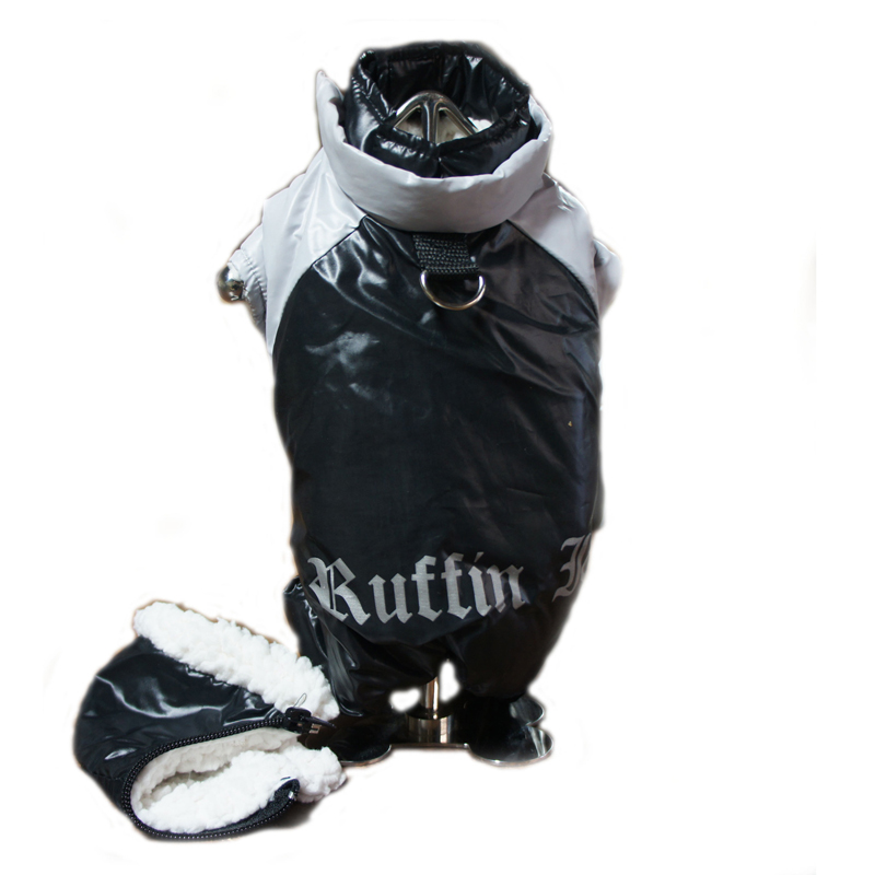 Ruffin It Snowsuit - Black and Grey
