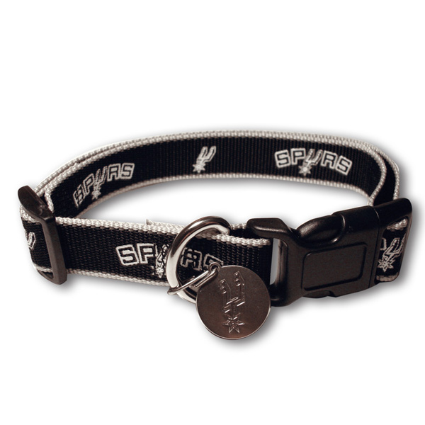 San Antonio Spurs Reflective Dog Collar