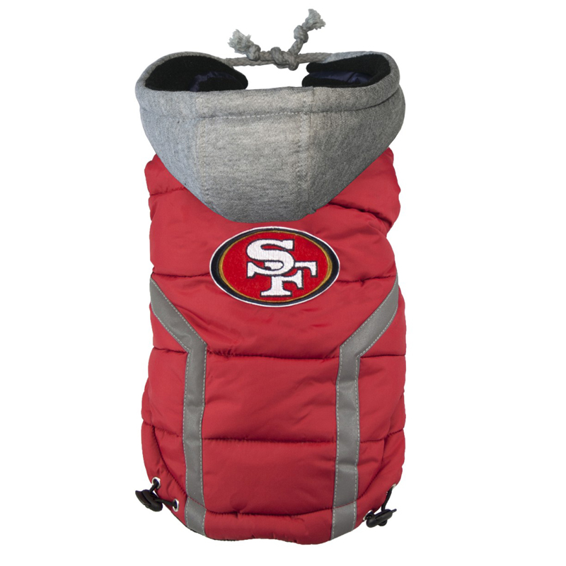 San Francisco 49ers Dog Puffer Vest