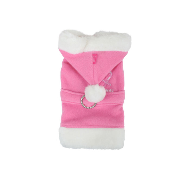 Santa Claus Dog Coat by Pinkaholic - Pink