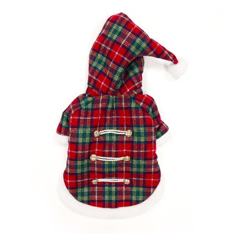 Santa Plaid Dog Coat by Dogo
