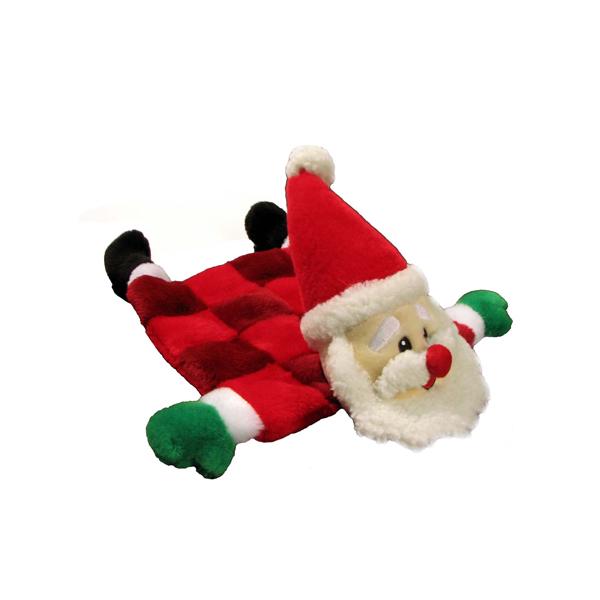 Santa Squeaker Mat Dog Toy