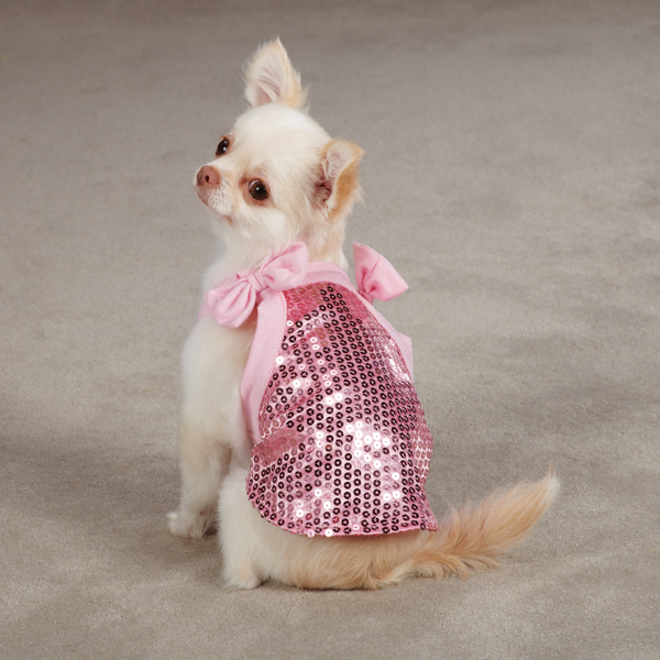 Sassy Sequin Dog Tank Top - Pink