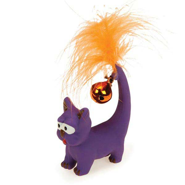Savvy Tabby Tickle Kitties Cat Toy - Purple