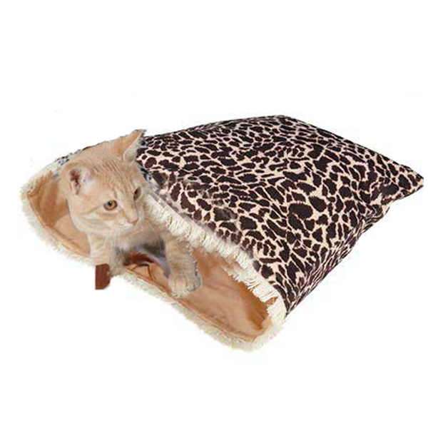 Savvy Tabby Wild Time Hide-N-Tweet Crinkle Cat Toy - Brown