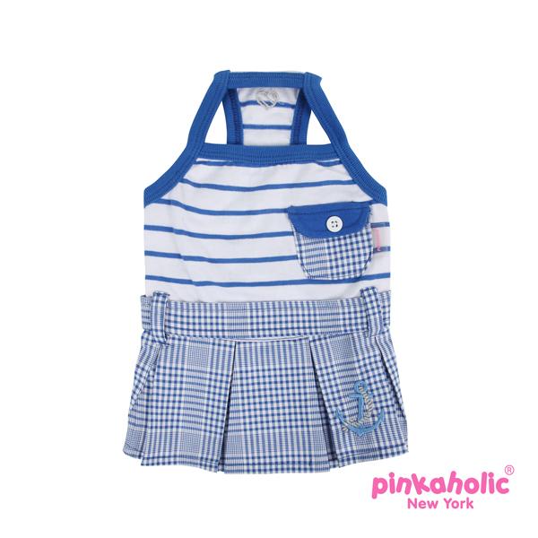 Sea Cadet Dog Dress by Pinkaholic - Blue