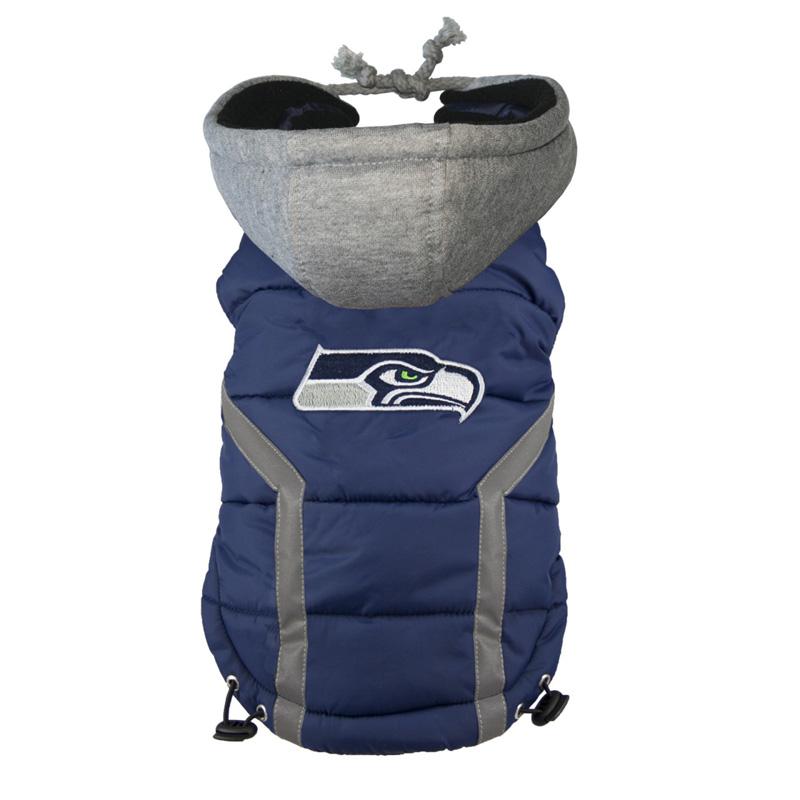 Seattle Seahawks Dog Puffer Vest