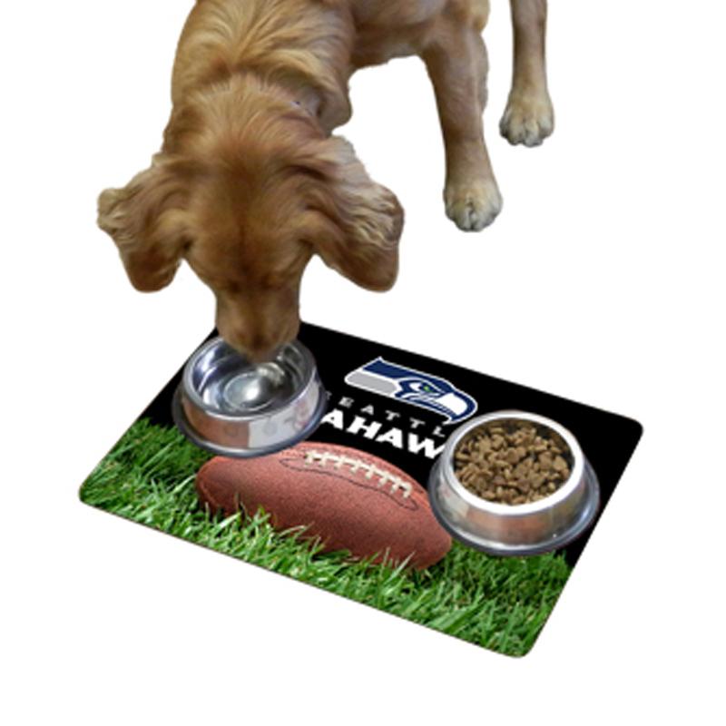 Seattle Seahawks Pet Bowl Mat