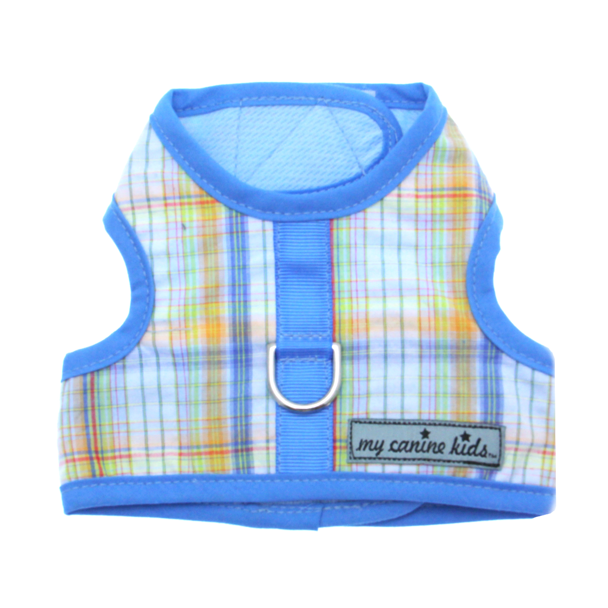 Seersucker Dog Vest Harness - Blue