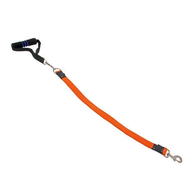 EZ Steps Shock Absorbing Big Dog Leash - Orange
