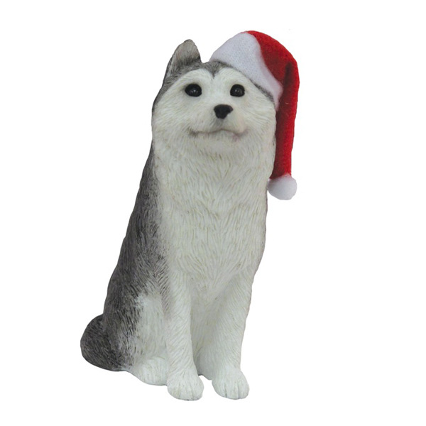Siberian Husky Christmas Ornament