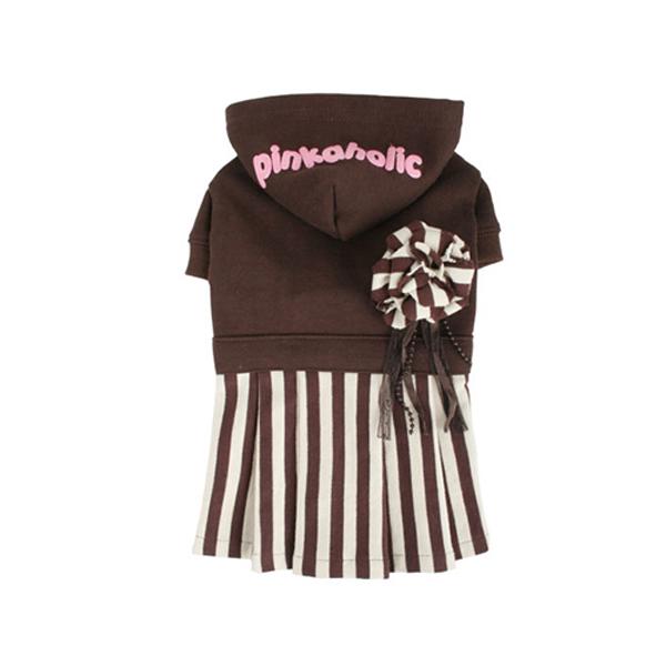 Signature Pinkaholic Stripe Dress - Brown & White