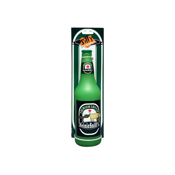 Silly Squeakers Dog Toys - Heinie Sniff'n Beer Bottle