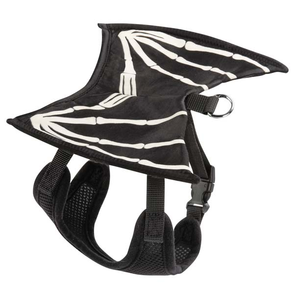 Skeleton Glow Wing Halloween Dog Harness Costume
