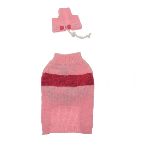 Ski Dog Sweater by Dogo - Pink